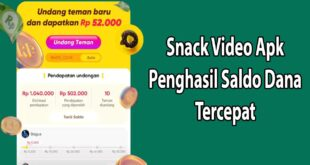 Event Snack Video Penghasil Uang